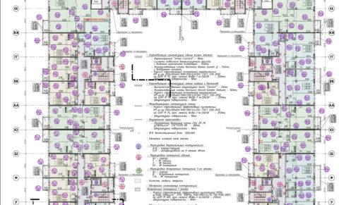 ЖК The Residence_План-корпуса-А-типовой-этаж-1к200