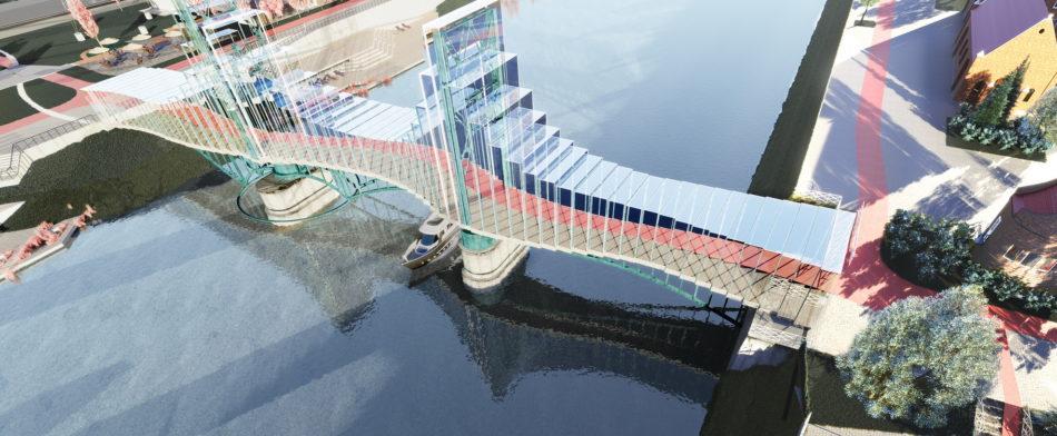 Реновация железнодорожного моста через реку Преголю