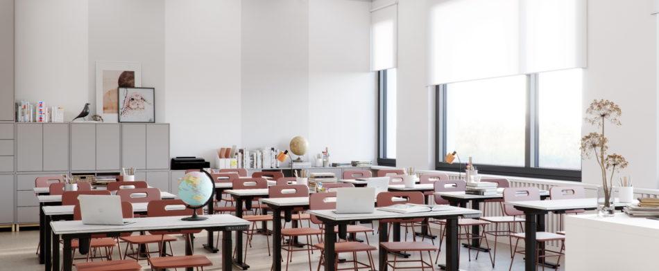 Интерьеры школы на 1100 мест