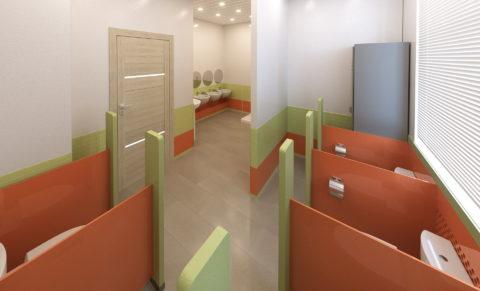 Санузел вид2 оранжево-зеленый