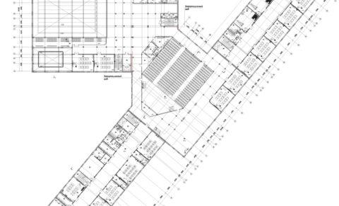 школа 1100 мест Планировочные решения