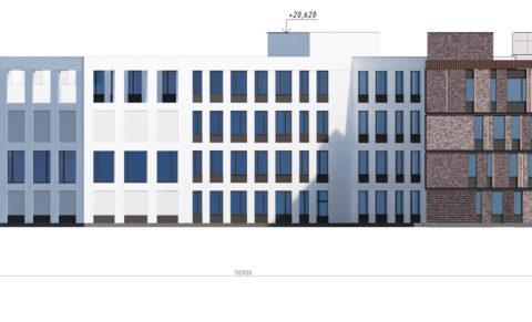 школа 1100 мест Фасад справа