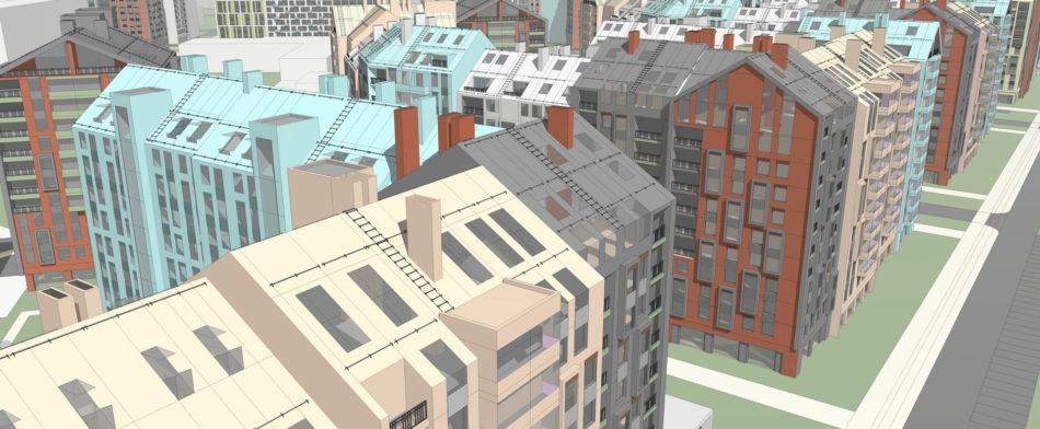 Комплексная застройка территории. Каменка. Архитектурно-градостроительная концепция.