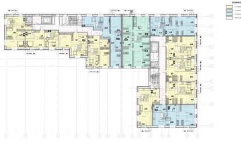 План 2-8 этажа
