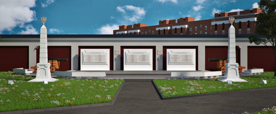 Мемориал руководителей Кронштадта. Проект благоустройства территории парка «Патриот».