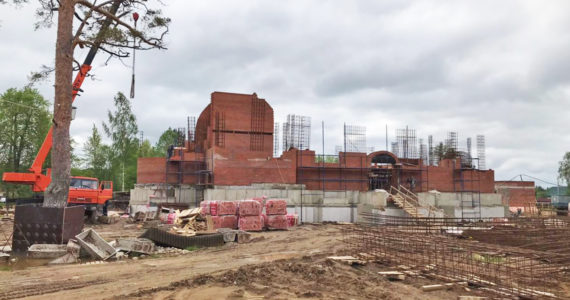 Строительство Церкви Благовещения Пресвятой Богородицы в Коваши