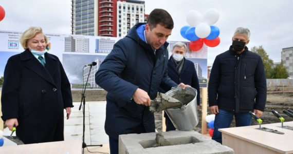 Памятную капсулу в честь начала строительства здания налоговой инспекции заложили в Петрозаводске